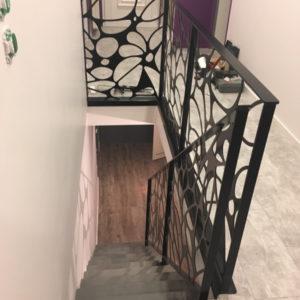 """""""gard corp interieur metal"""" Garde-corps intérieur en acier ou inox pour escalier"""