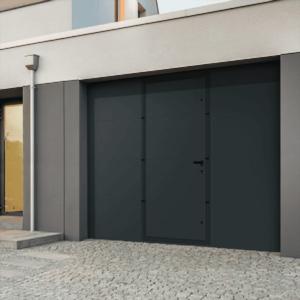 Portes de garage sectionnelle lisse Portillon Intégré MIA