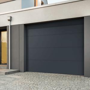 porte garage sectionnelle lisse CHLOE -Gris structuré